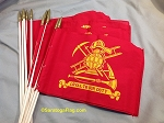 -Fire Dept Grave Flags - Handheld - Bulk Quantity-Stock